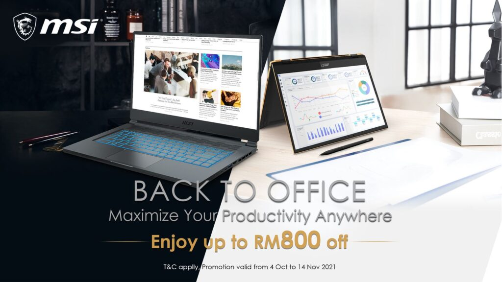 MSI Back to Office Promotion offers up to RM800 discounts in their best laptops 1