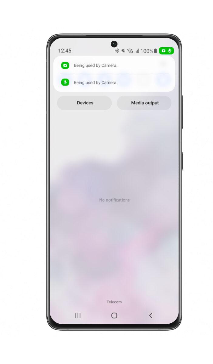 Samsung One UI 4 Beta beta indicator