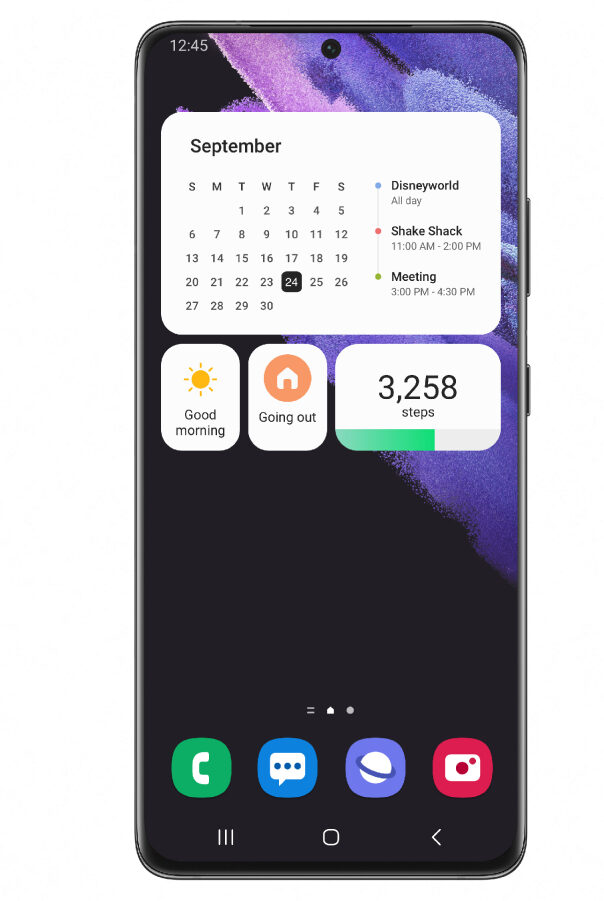 Samsung One UI 4 Beta widgets
