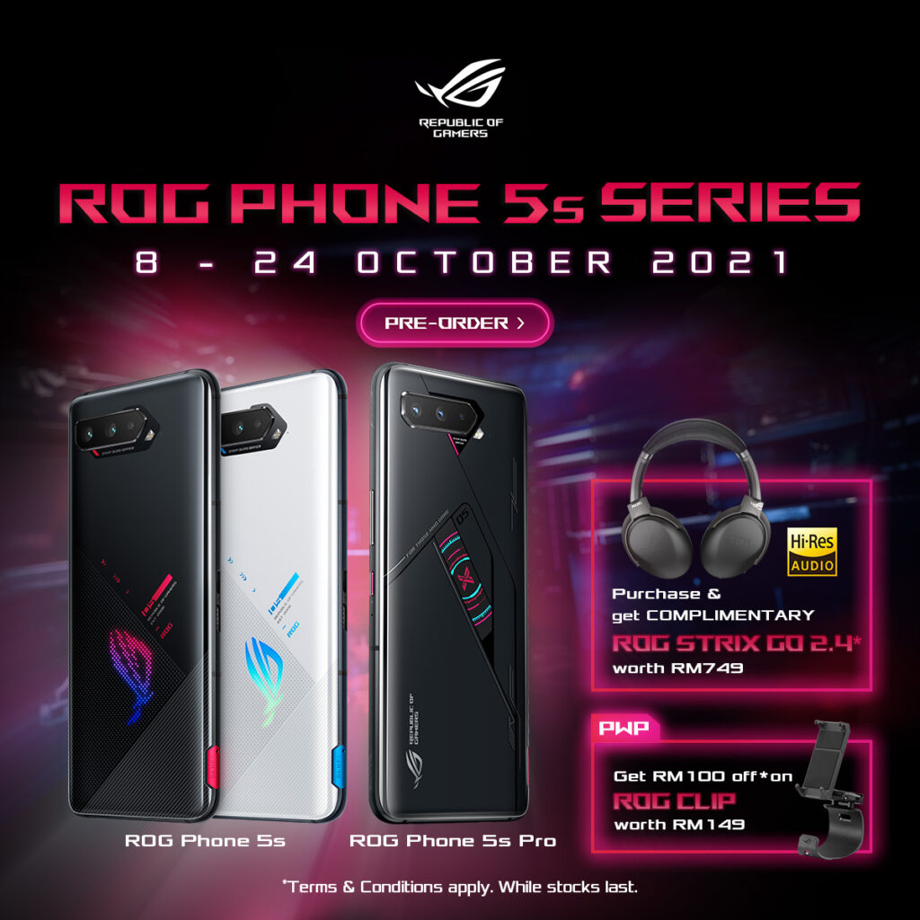 Powerful ASUS ROG Phone 5s Malaysia  preorder promotion