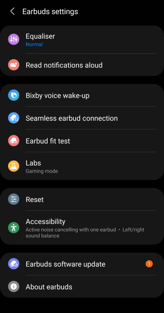 Samsung Galaxy Buds2 Review earbud settings