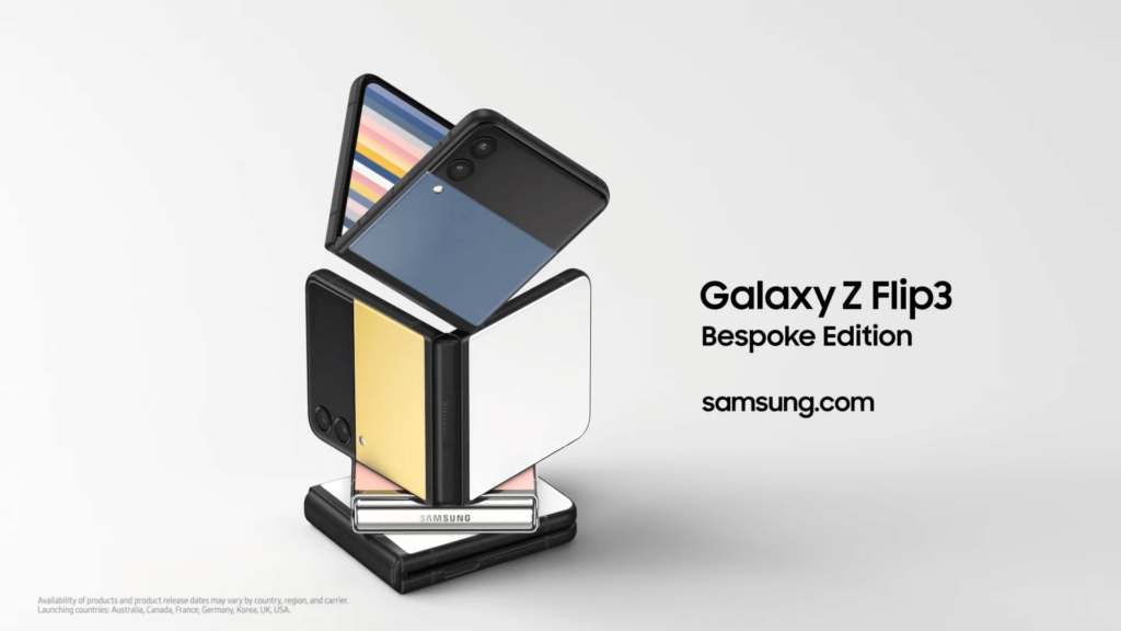 Galaxy Z Flip3 Bespoke Edition official cover image