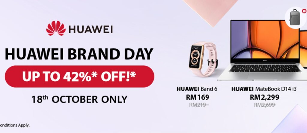 Huawei 10.18 Brand Day Sale offers up to 42% discounts for one day only 1