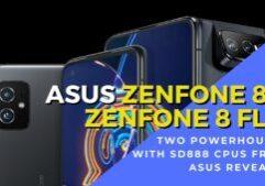 asus zenfone 8 and zenfone 8 flip global launch