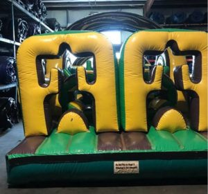 jungle run obstacle course inflatable rental in steen and columbus, Mississippi