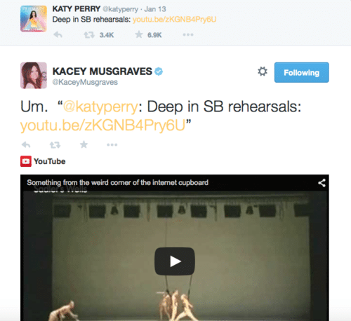 Katy Perry Kacey Musgraves tweet