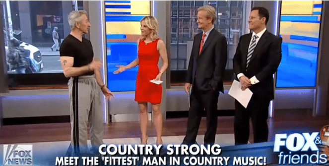 Aaron Tippin Shows Fox & Friends His Fitness