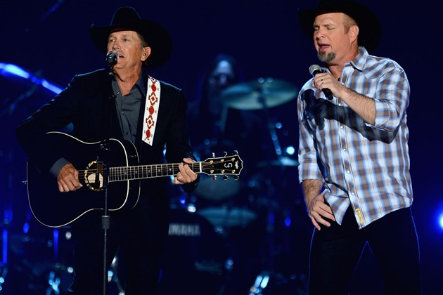 Garth Brooks AND George Strait performing at the ACM Awards?
