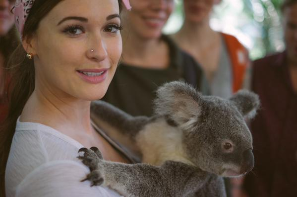 Kacey Musgraves gets wild in Australia