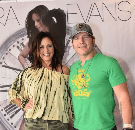 Jerrod Niemann supports Sara Evans' Hard Rock donation…