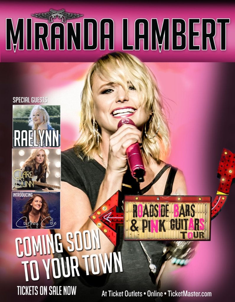 Read more about the article Miranda Lambert to resurrect 'Roadside Bars and Pink Guitars' tour featuring all women!