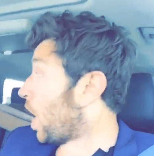 Brett Eldredge hearing his song on the radio is too cute