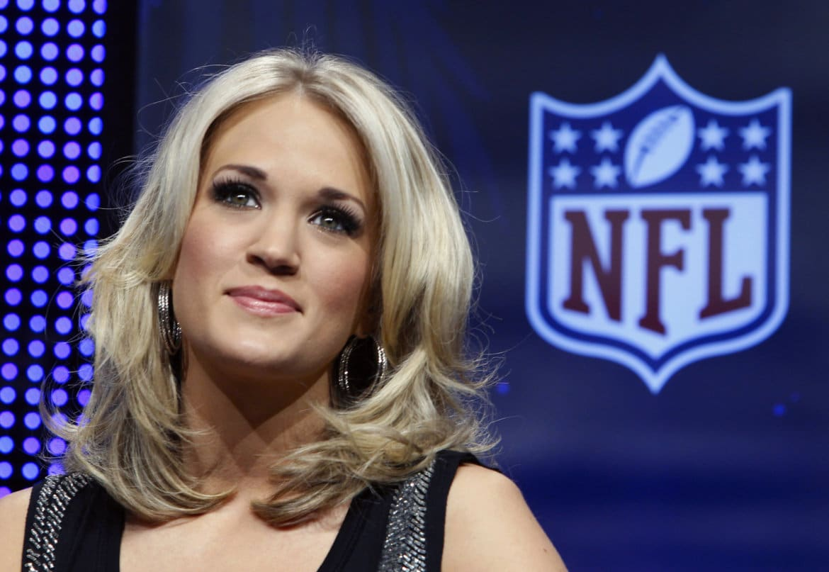 Read more about the article See Behind the Scenes Footage of Carrie Underwood's New Sunday Night Football Video (Watch!)