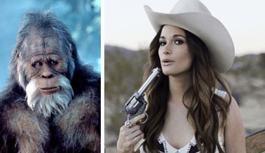 Harry from Harry and the Hendersons (Universal Pictures) and Kacey Musgraves