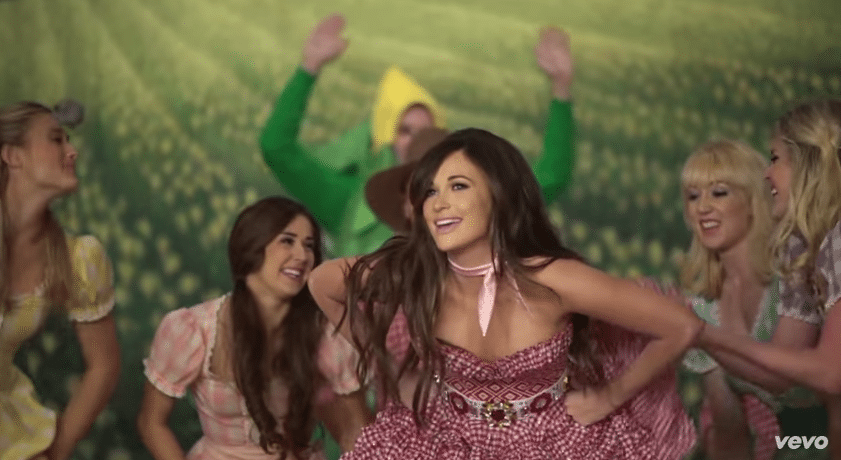 Kacey Musgraves filming her new Biscuits music video - via YouTube