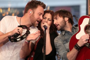 "GOOD MORNING AMERICA - Lady Antebellum performs live on ""Good Morning America,"" 5/7/13, airing on the ABC Television Network. (Photo by Fred Lee/ABC via Getty Images) LADY ANTEBELLUM"