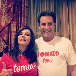 Martina McBride and Keith Hill show their love of tomatoes - photo via Instagram