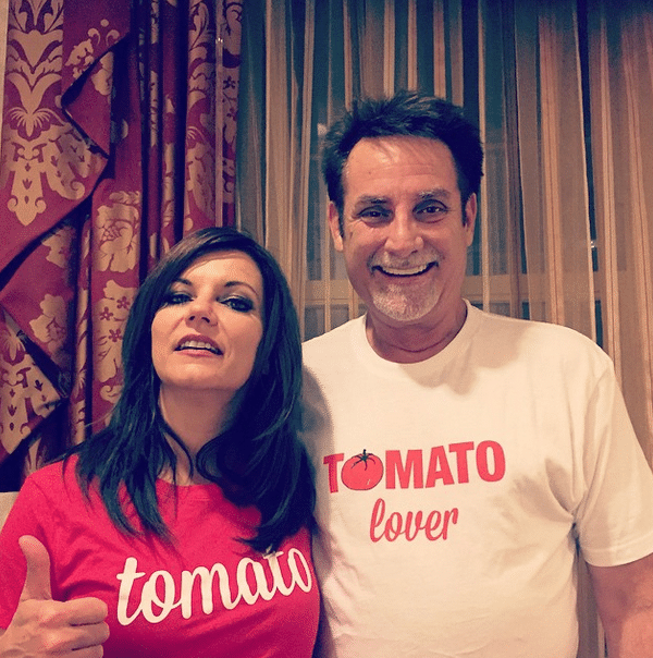 Martina McBride and her husband show their love of tomatoes - photo via Instagram