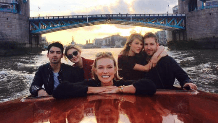 Taylor Swift. On A Boat. With her current AND ex boyfriend.