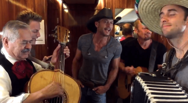 Tim McGraw has a Mariachi good time