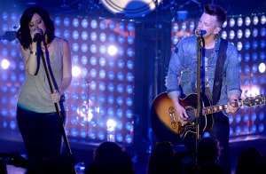 NASHVILLE, TN - JUNE 05:  Shawna Thompson and Keifer Thompson of Thompson Square perform onstage during Pandora Country at Marathon Music Works on June 5, 2015 in Nashville, Tennessee.  (Photo by Jason Davis/Getty Images for Pandora Media Inc.)