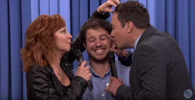 Reba and Jimmy Fallon Close-Up Serenade One Lucky Fan