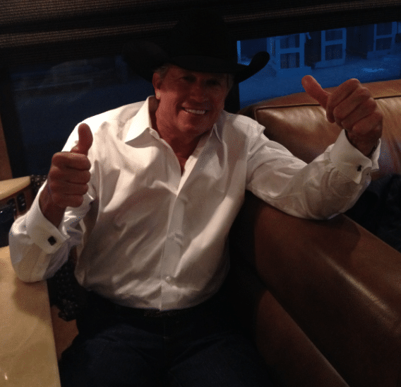 George Strait thumbs up