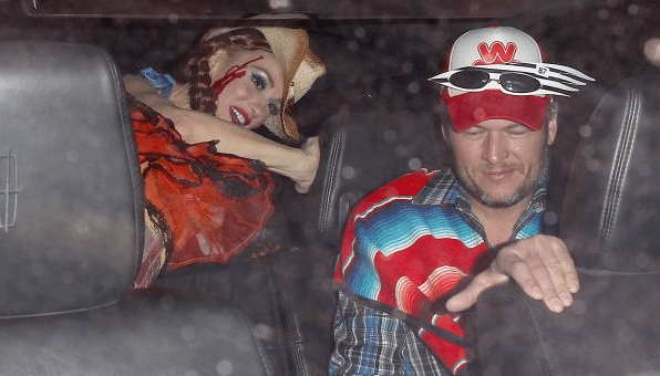 Are Blake Shelton and Gwen Stefani screwing with the paps in these Halloween pics?