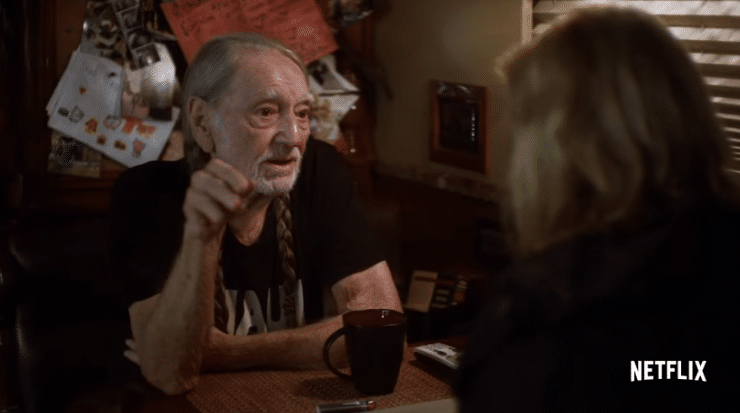Willie Nelson smokes a little weed with Chelsea Handler in her new Netflix show trailer