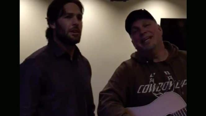 Carrie Underwood's Husband Mike duets with THE Garth Brooks…
