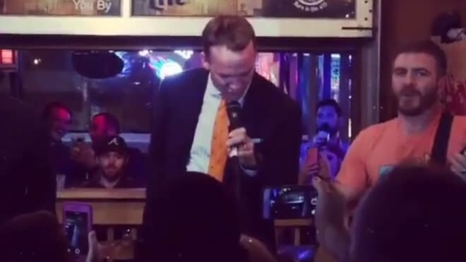 Read more about the article Peyton Manning Trades In His Spikes For a Mic (Watch!)