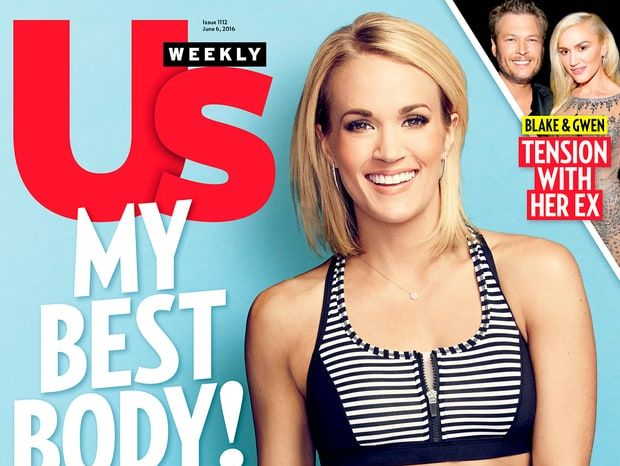 Carrie Underwood covers Us Weekly in a bikini. You're welcome.