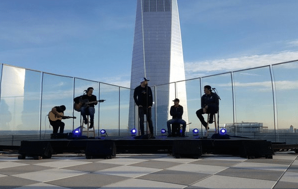 "Cole Swindell Performs ""You Should Be Here"" At World Trade Center"