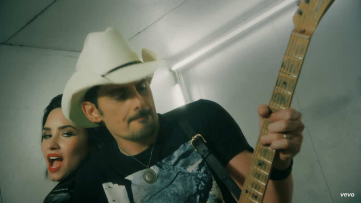 """Watch Brad Paisley's new video for """"Without a fight"""" featuring Demi Lovato"""