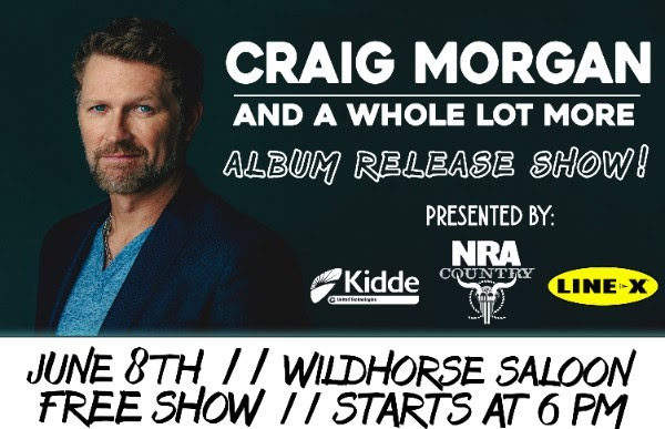 Craig Morgan performing free show tonight to celebrate album release