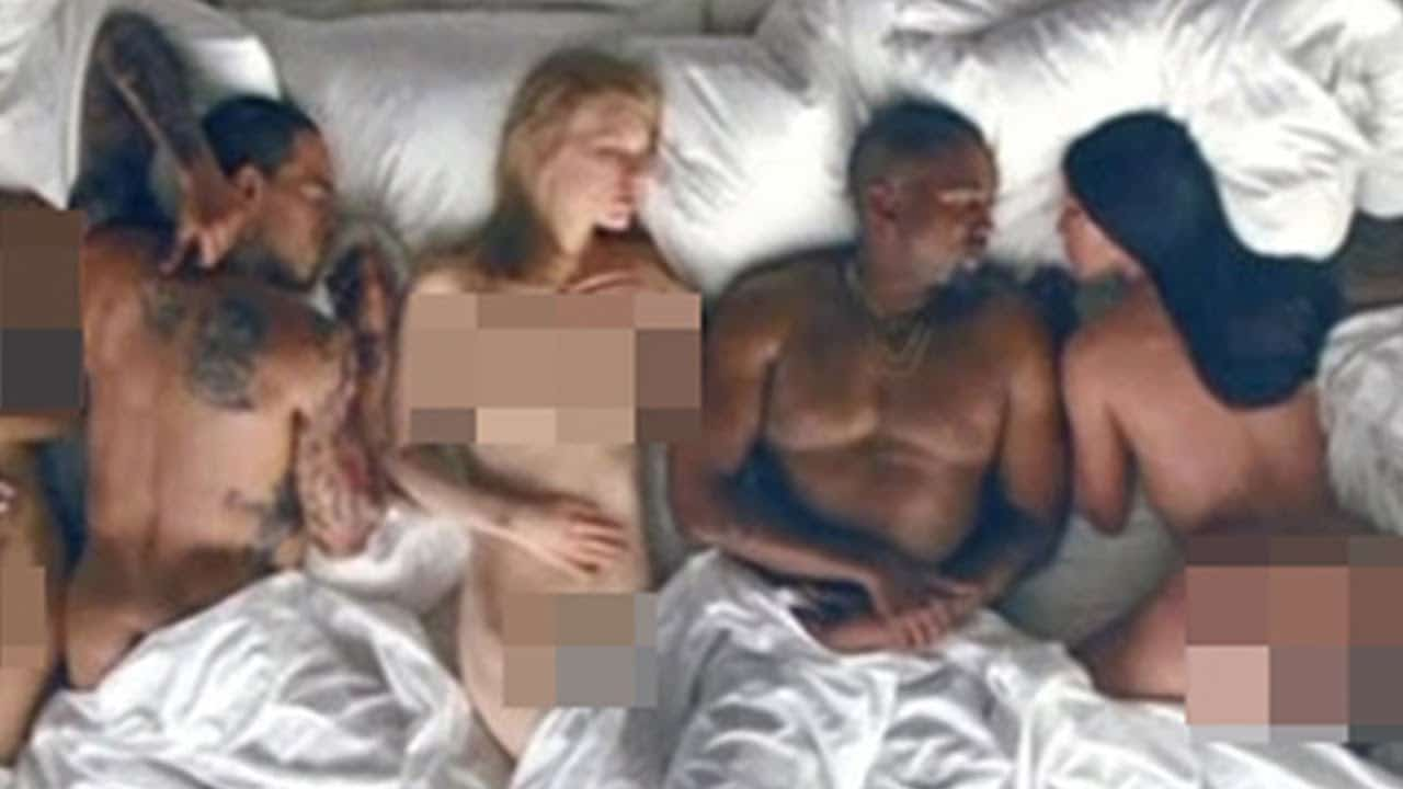 The naked Taylor Swift from Kanye's 'Famous' video was in an art show