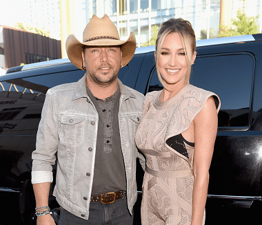 Jason Aldean and Brittany Kerr hit the CMT Music Awards red carpet