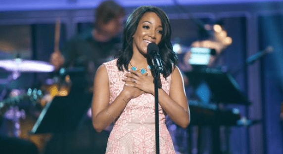 Mickey Guyton gets emotional with fans at CMA Fest