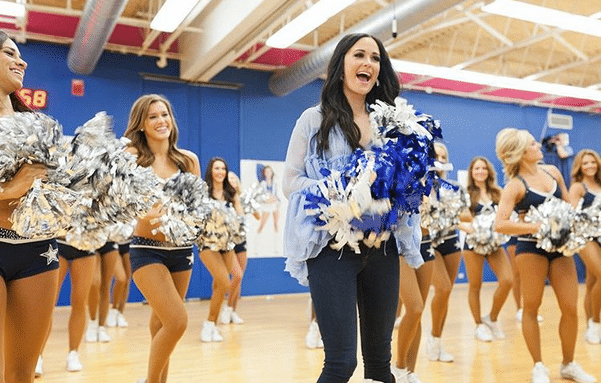 Kacey Musgraves Makes The Team With The Dallas Cowboys Cheerleaders