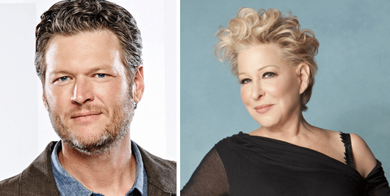 Blake Shelton and Bette Midler for The Voice