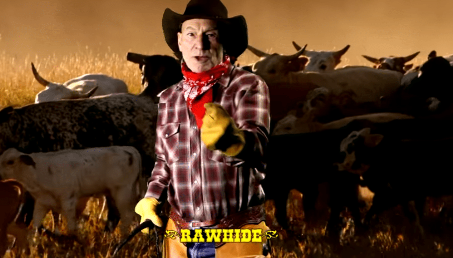 Watching Sir Patrick Stewart sing cowboy classics is pretty much the best way to start the day