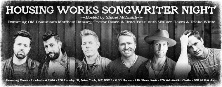 Shane McAnally, Old Dominion, Drake White and Walker Hayes Bring Songs & Stories to NYC