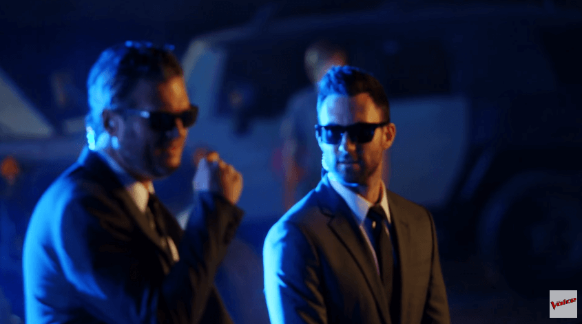 Read more about the article Blake Shelton and Adam Levine are Men In Black for epic new The Voice promo