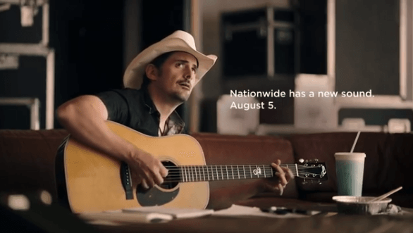 Read more about the article Take a listen to Brad Paisley's new Nationwide Insurance jingle