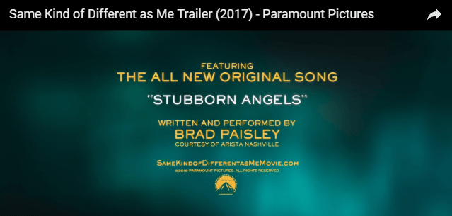 Brad Paisley movie trailer song