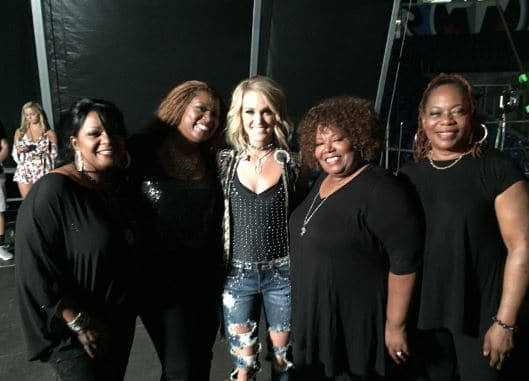 Carrie Underwood shares the stage with some special performers…