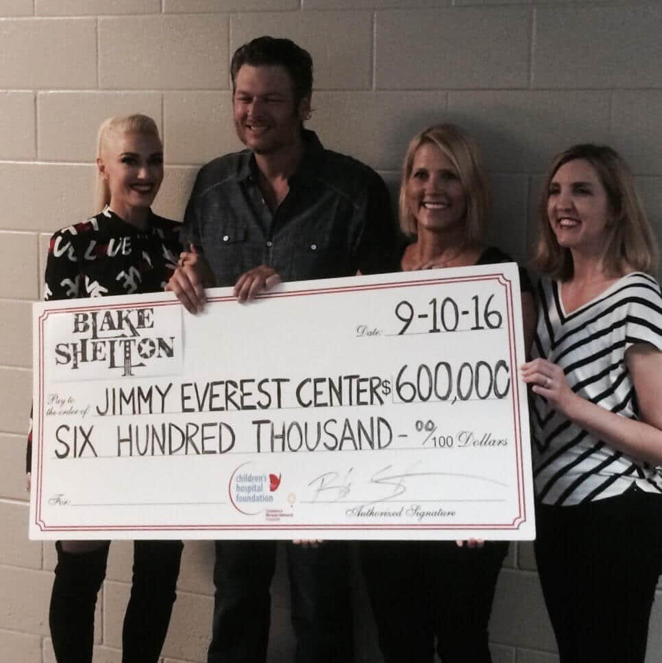 Blake Shelton donates $600,000 to help fight childhood cancer