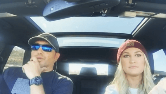 Jason Aldean and wife Brittany carpool karaoke it up!