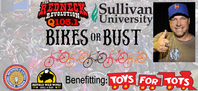 Read more about the article Good guy Garth Brooks donates a bunch of bikes to Toys for Tots