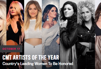Read more about the article CMT shakes things up with all woman CMT Artist of the Year special